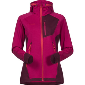 Bergans Cecilie Wool Jas Dames, bougainvillea/dark cherry/strawberry